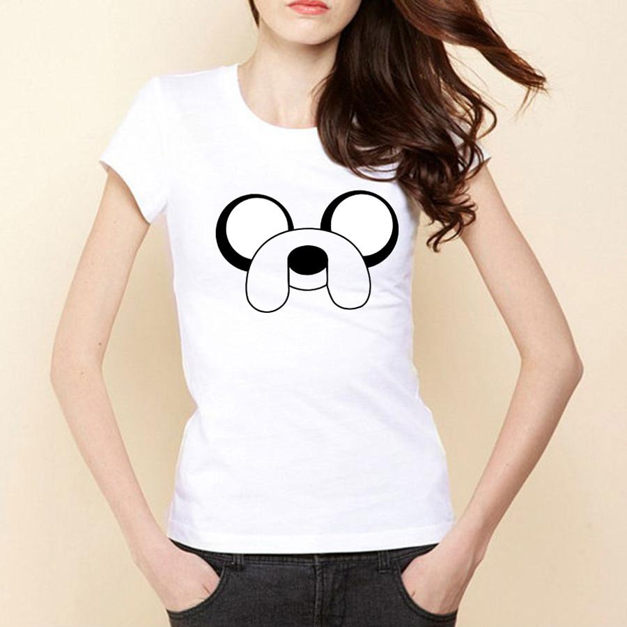 Lovely Adventure Time Girls Cartoon T Shirt Round Neck Short Sleeve Women t-shirts Free Shipping Female tshirts(China (Mainland))