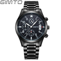 2016 new GIMTO Brand men s watches quartz watch men real three dial luminous waterproof