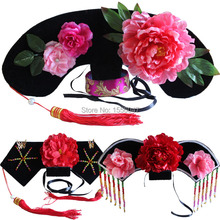 Qing Dynasty Princess Hat Princess Hair Accessory Costume Hat for Girls Good Funny Cute Gift For Children and Adults(China (Mainland))