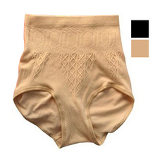 Free Shipping New Women High Waist Brief Girdle Body Shaper Underwear Lady Pure Cutton Slim Tummy Knickers Pants Underwear