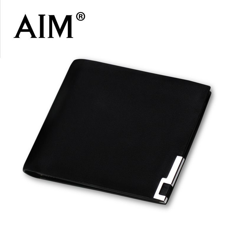 Aim male wallet male short design genuine leather thin wallet small cowhide wallet<br><br>Aliexpress
