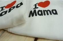 Baby Romper I Love Mama I love Papa Romper Newborn Butterfly Romper Climbing Clothes