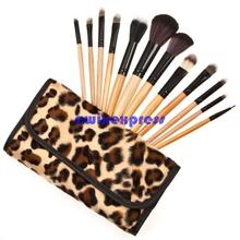 Professional Makeup kits Brush Cosmetic Make up tools Leopard Bag makeup brush sets(China (Mainland))