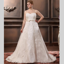 Sweetheart Applique Lace Wedding Dress Gowns