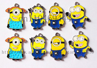 Wholesale New  50Pcs Despicable me Metal Charms pendants DIY Jewellery Making crafts