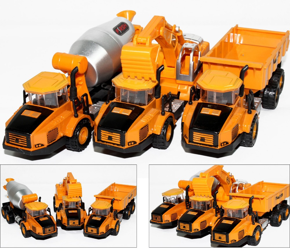 Manufacturers specials Diecast cars, 1:87 alloy construction vehicles, trucks, mixer, excavators, lowest price, free shipping(China (Mainland))