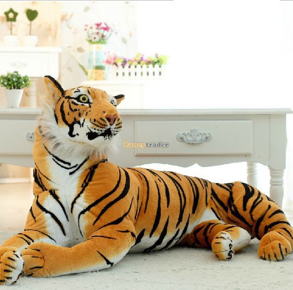 Fancytrader 67'' / 170cm Jumbo Domineering Giant Soft Stuffed Emulational Tiger Toy, Nice Gift, Free Shipping FT50174(China (Mainland))