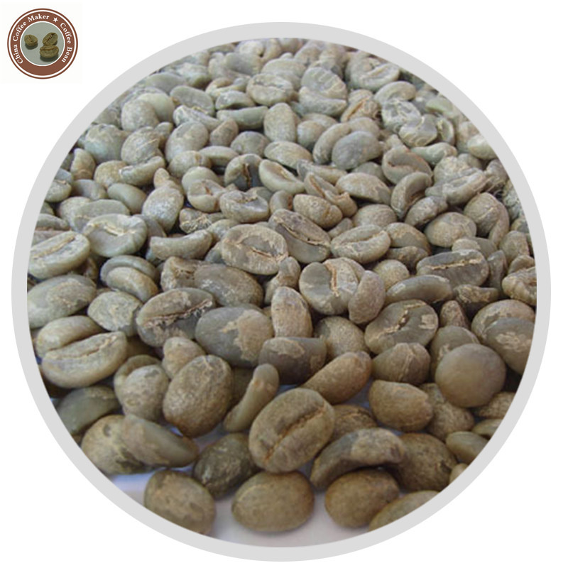 China Yunnan Green Coffee Bean 5kg At an altitude of 1500 meters high wholesale available