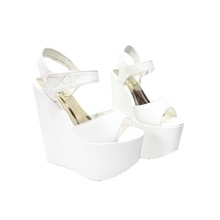 Hot! 2016 New white 17 cm Sexy party Women Wedge Sandal High Heels Pumps Shoes Woman Sandalias Mujer Sandales Femme Summer style