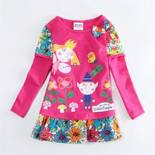 2-6y nova kids girls tshirts sweet clothing with flower fairy tale printed China manufacturer cheap baby clothing child t shirts(China (Mainland))