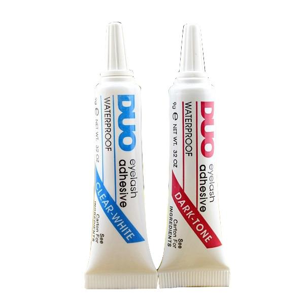 Factory Price 2Pcs New Eyelash Glue Dark +White Duo Best False Eyelash Adhesive Glue Makeup Eyelash Tools For Professional(China (Mainland))