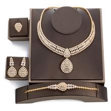 Afrikanischen Schmuck Sets Ohrring Halskette Armband Ring sets Vintage Stil Frauen Schmuck TZ8006 Juego De Kragen Y Pendientes(China)