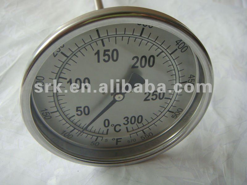 Double Scale bimetal thermometer with  SS304 Case<br><br>Aliexpress