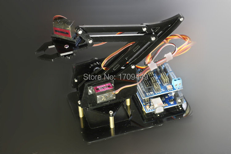 free shipping arduino controlled 4 DOF robot U-arm robotic arm with servos(China (Mainland))
