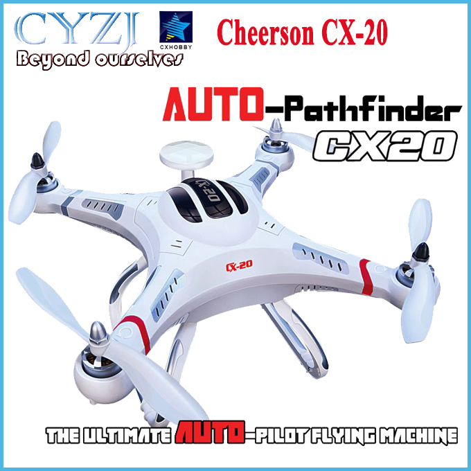 Drone Cheerson CX-20 CX20 CX 20 2.4GHz RC 4-Axis Quadcopter rc helicopter Auto-Pathfinder Aircraft FPV RTF & GPS big fly shark(China (Mainland))