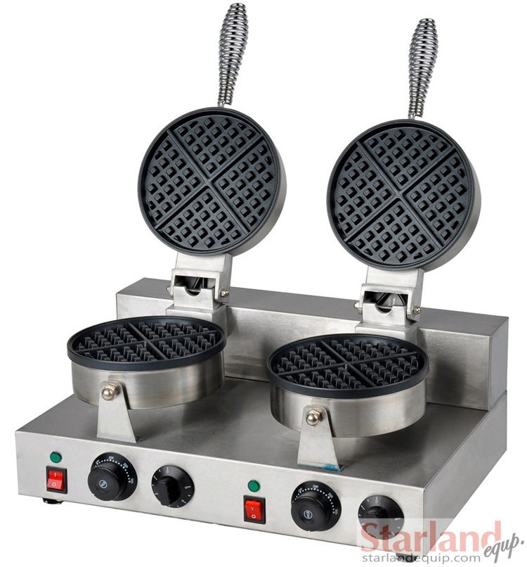 Commercial Waffle Machine Stainless Steel Double Heads Non-stick Waffle Baking Machine<br><br>Aliexpress