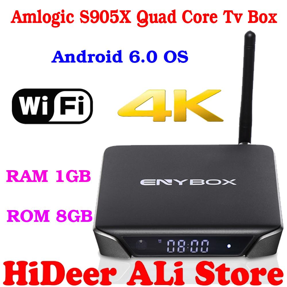 ENY brand Newest amlogic S905X quad core tv box ENYBOX X1 suport wifi 4K 3D android 6.0 tv box better than MXQ MXQPRO tv box(China (Mainland))