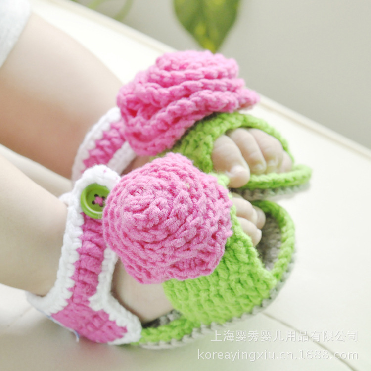 Korean baby show baby shoes leisure shoes knitted baby booties baby newborn shoes(China (Mainland))