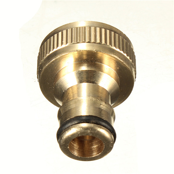 New Arrival 3/4 Solid Brass Threaded Tap Garden Hose Connect Adaptor Tap Snap Fitting Pipe(China (Mainland))