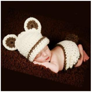 Newborn Baby Indians Infant Knitted Crochet Costume Photo Photography Prop Costumes For Baby Toddler Newborn Photo Props(China (Mainland))
