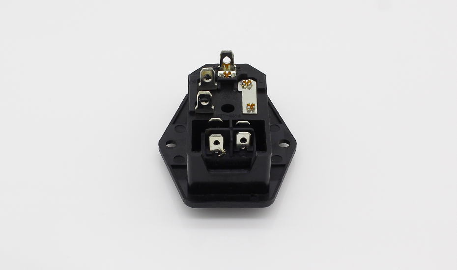 Power Rocker Switch IEC 3 Pin 320 C14 Inlet Power Sockets Switch Connector Plug 10A 250V