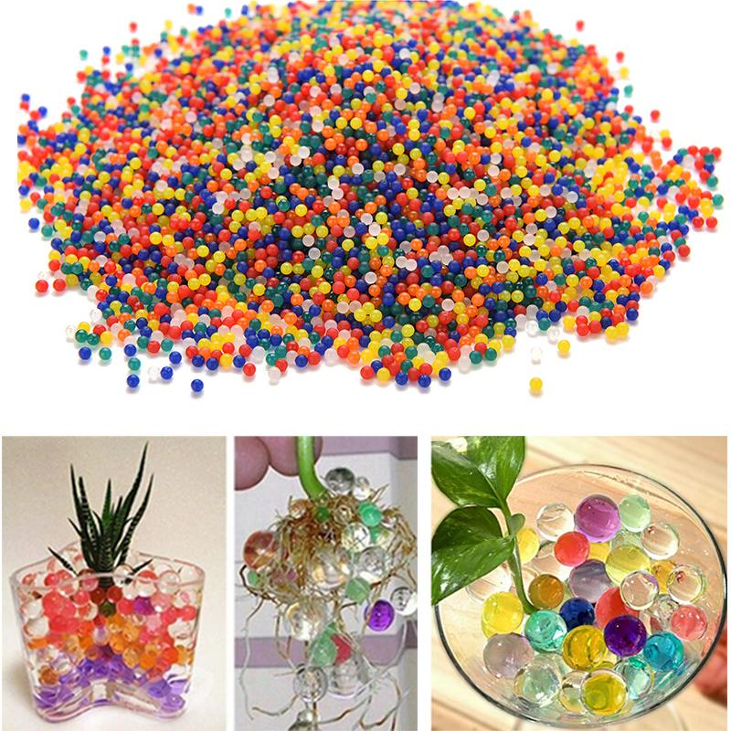 2 bags Crystal Soil Hydrogel Gel Polymer Water Beads Flower/Wedding/Decoration Maison Growing Water Balls Big Home Decor(China (Mainland))
