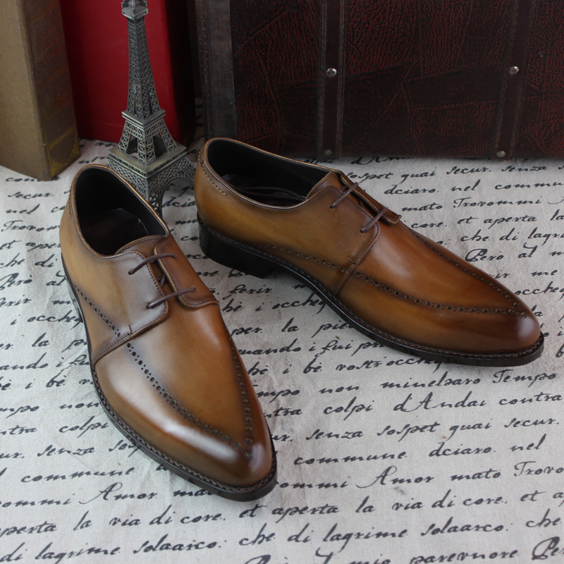 SKP155 Custom Made Goodyear 100% Genuine Leather Handmade oxfords Shoes, Mens Handcraft Dress Formal Shoes Large/Plus Size<br><br>Aliexpress