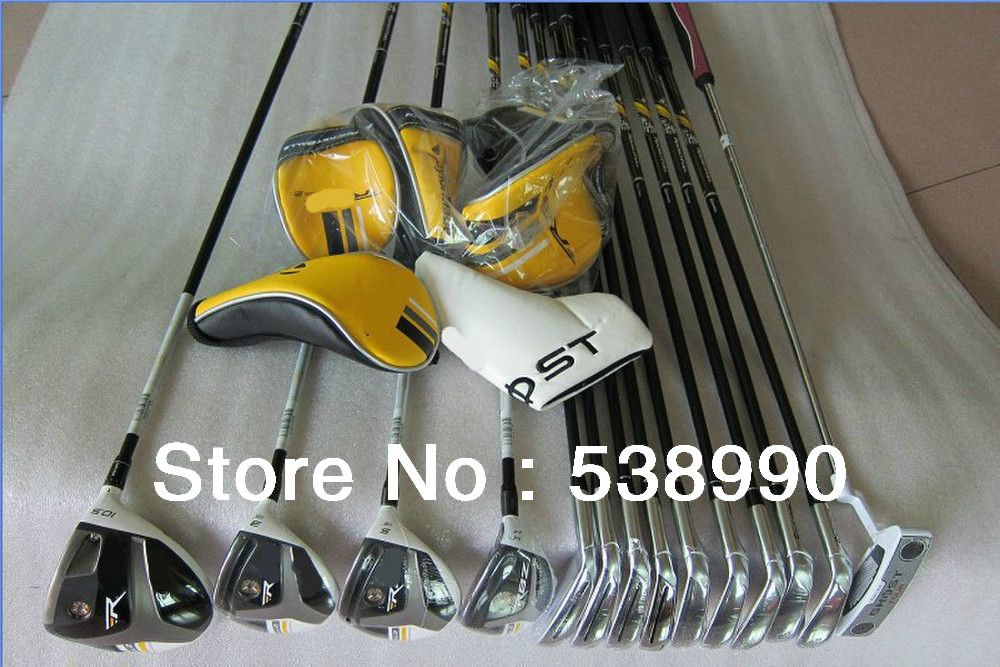 stage2 golf clubs Complete Club Sets RocketBladez 3wood+Bladez irons+Hybrid+Putter Right/graphite shaft(no bag)FREE SHIPPING(China (Mainland))