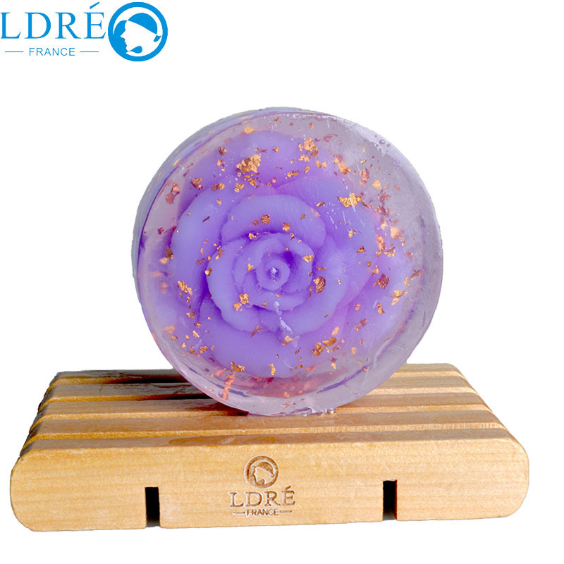 High quality handmade soap gold rose essential oil whitening soap
