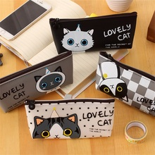 Buy free shipping Guoyi B030 Pen box cartoon Lovely Cat pencil bag waterproof PU Pencil Case stationery material Office school for $1.61 in AliExpress store