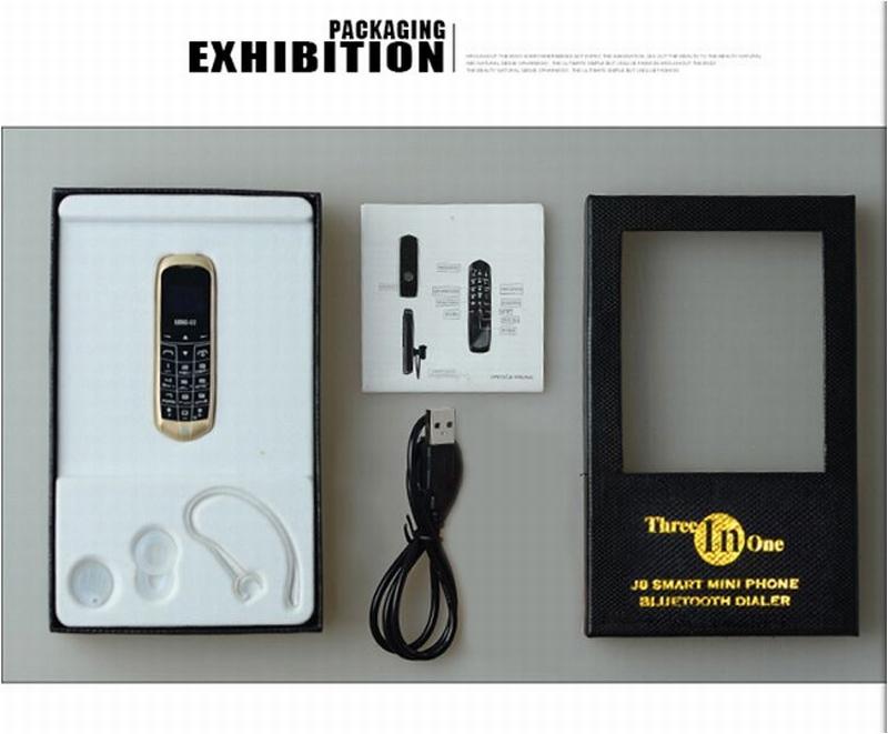 image for LONG-CZ J8 Magic Voice Bluetooth Dialer Cellphone FM Radio Mini Cell B