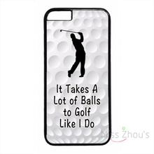 For iphone 4/4s 5/5s 5c SE 6/6s plus ipod touch 4/5/6 back skins mobile cellphone cases cover Funny Golf Ball Quote Pattern