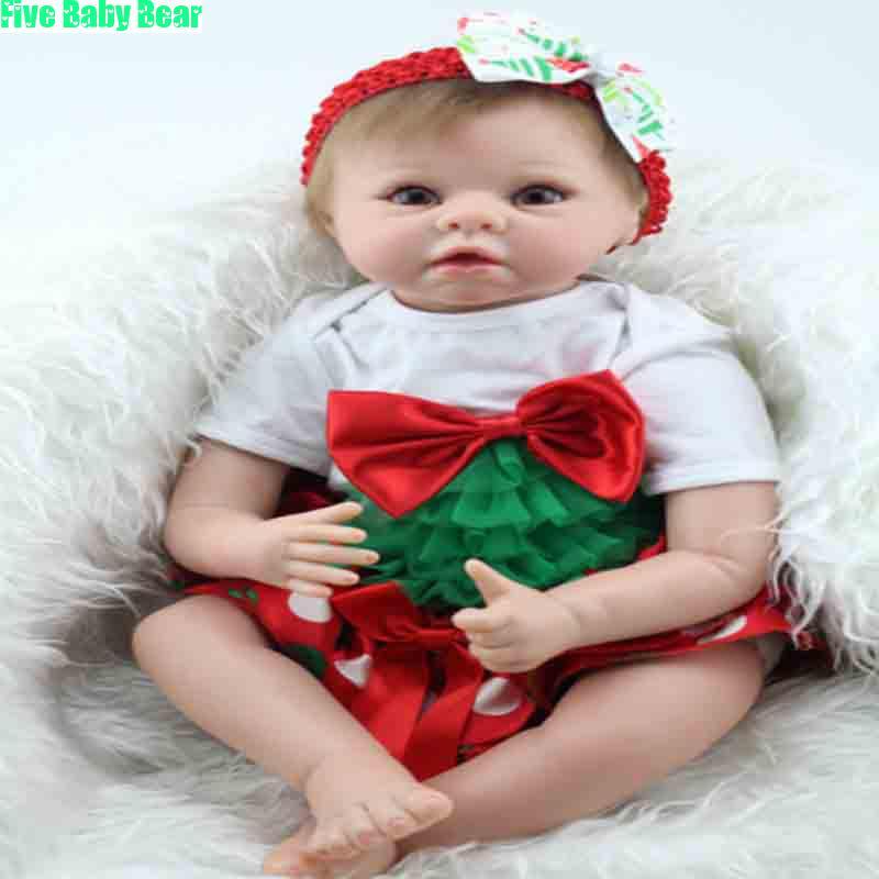 22inch Bonecas Silicone Newborn Dolls Lifelike Reborn Baby Dolls Toys Munecas<br>
