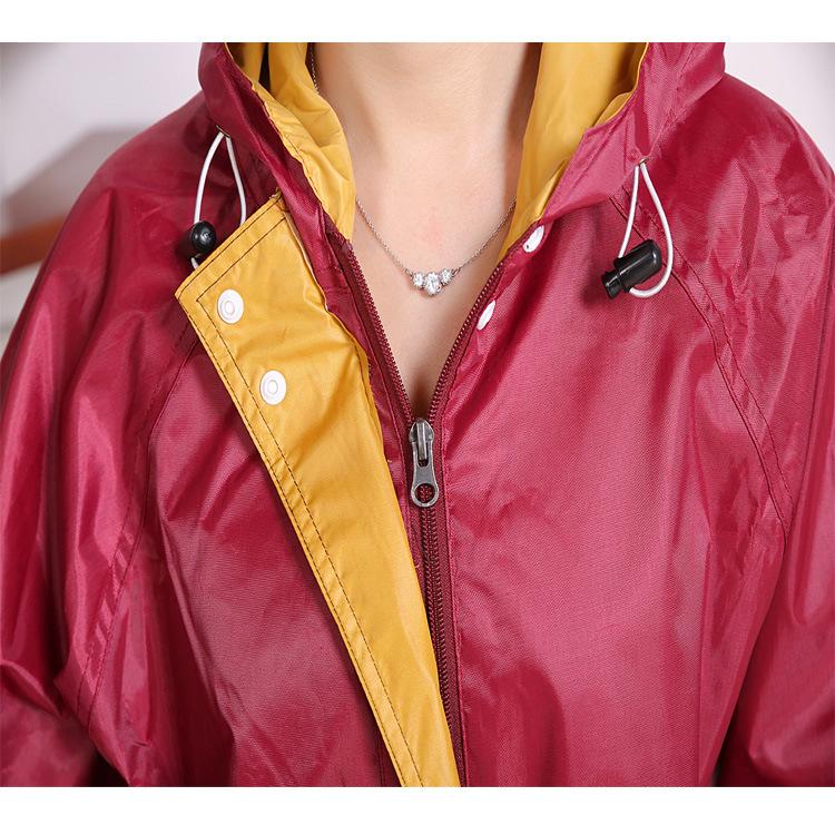 Двойной подкладка толщиной ткань оксфорд светоотражающие дышащий с большим краев взрослых мотоцикл плащ пончо женщины мужчины дождь куртка брюки