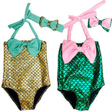Kids Swimming Bikinis Set Two Pieces Baby Girls Bathing Suit Baby Girls Mermaid Swimwear Bathing Suit New Arrival