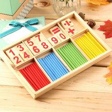 1 unid inteligencia grandes juguetes Montessori matemáticas cálculo Material de madera Color de educación temprana juguete iluminación(China (Mainland))