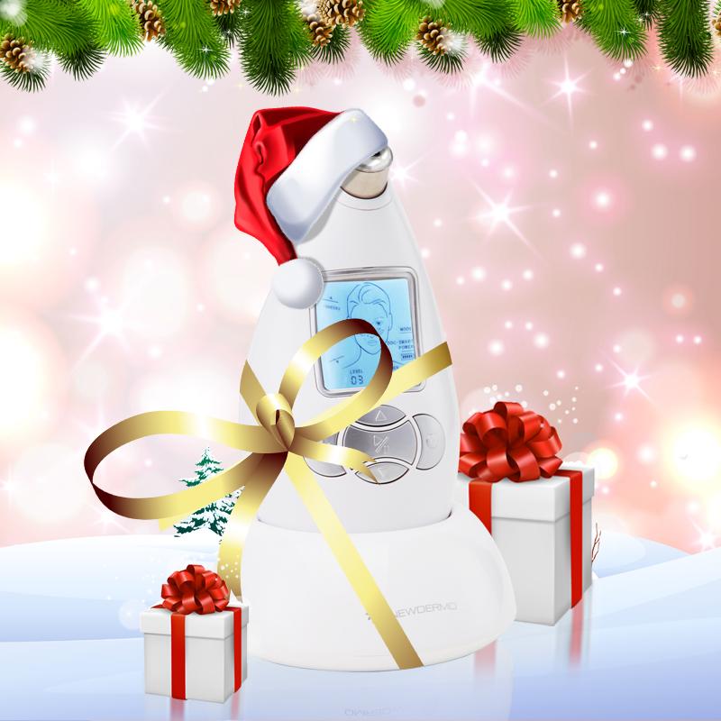 White Hot NEWDERMO Diamond Microdermabrasion Machine Cosmetics Skin Care V Line Face FREE SHIPPING(China (Mainland))
