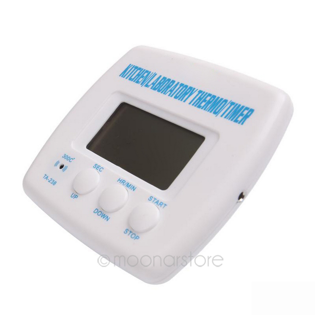 High Quality Multi-functional Digital LCD Display Timer Cooking Kitchen BBQ Probe Meat Food Thermometer(China (Mainland))