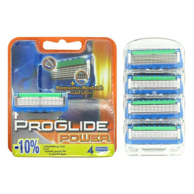 Высокое качество Марка 4 шт./компл. FP Proglide Мощность 4S Эпилятор бритвы лезвия мужская лица Бритья Лезвий Бритвы для Мужчин RU Точилка