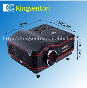 2014 Home Theater Portable DVD Projector wihtout battery , support SD/MMC card, USB Host, Disc,Cable TV(China (Mainland))