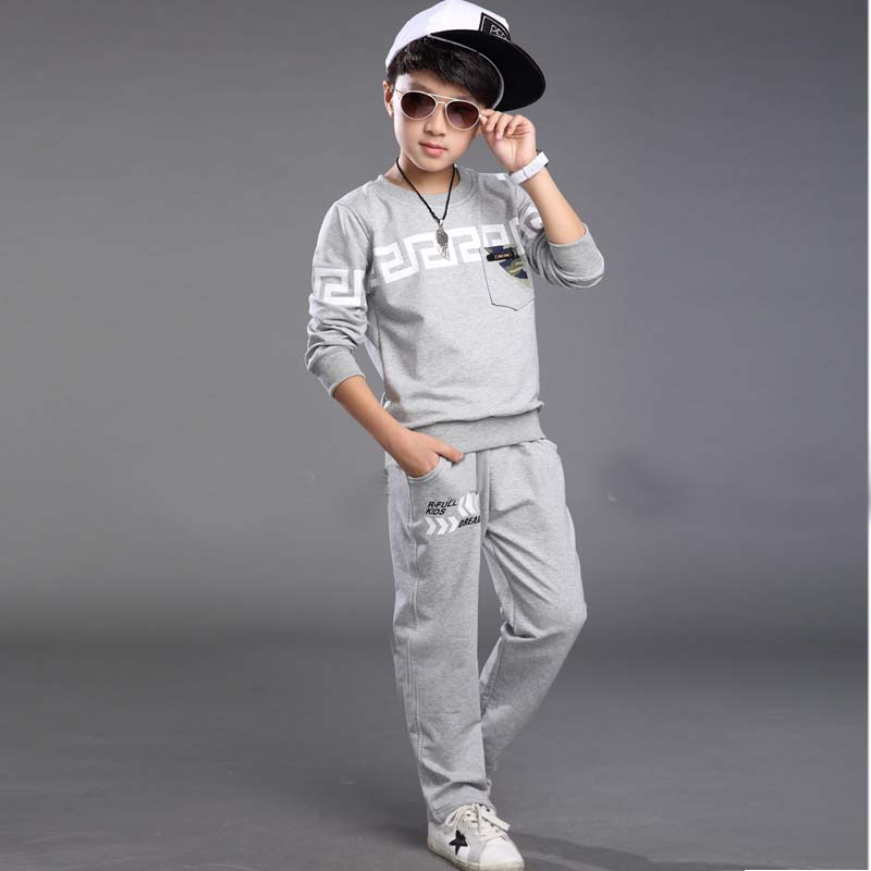 Children boys clothes sets autumn and winter two pieces boys sports suits long sleeve boys clothes sets for children(China (Mainland))