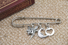12pcs Shakespeare inspired Midsummer Night's themed charm kilt pin brooch (38mm)