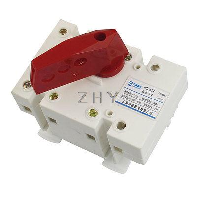AC 380V 50Hz 63A 2P+E 660V Insulator 35mm Mounting Rail Circuit Isolating Switch(China (Mainland))