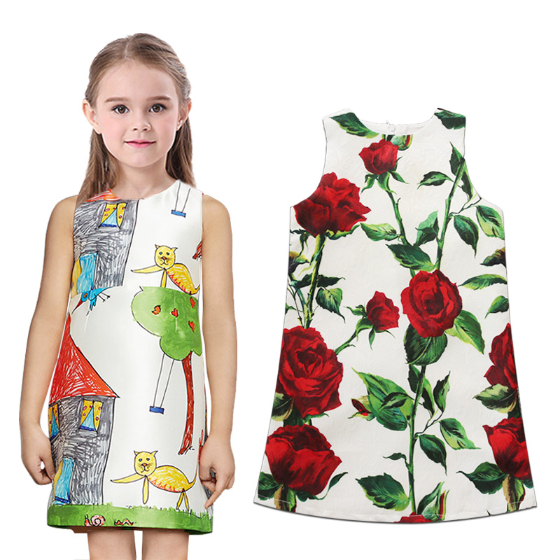 2016 Flower girl party dress casual baby girl dress summer toddler dress for children clothing fashion top quality kids clothes<br><br>Aliexpress