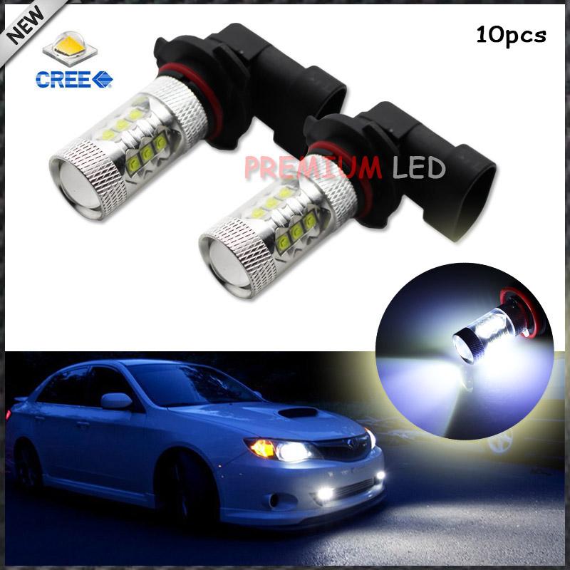 10pcs 8000K Light-Blue 80W High Power CREE 9005 HB3 H10 LED Bulbs car High Beam/Daytime Running Lights/Fog Lamps<br><br>Aliexpress