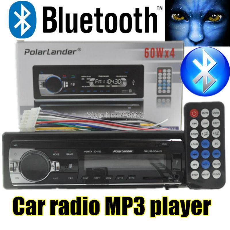 2015 new 12V Car Radio bluetooth MP3 car Audio Player Support Bluetooth radios USB/SD MMC Port Car In-Dash w/remote control(China (Mainland))