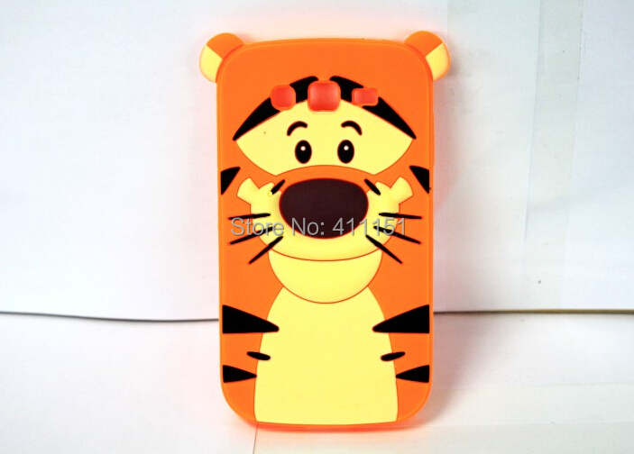 Cute 3D Cartoon Tigger Silicone Case Back Cover Samsung Galaxy Grand Neo i9060 9062