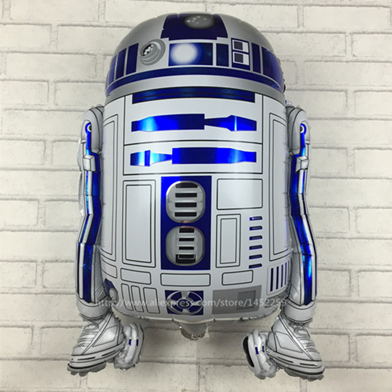 Free shipping Star Wars Globos R2-D2 Foil Balloons Party Supplies Helium Balloons Kids Toys Gifts(China (Mainland))