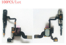 (4G906100DHL)(100PCS/Lot by DHL) 100% Top Quality Guarantee for iPhone 4 Proximity Sensor+Ear Speaker+Power Button Flex Cable
