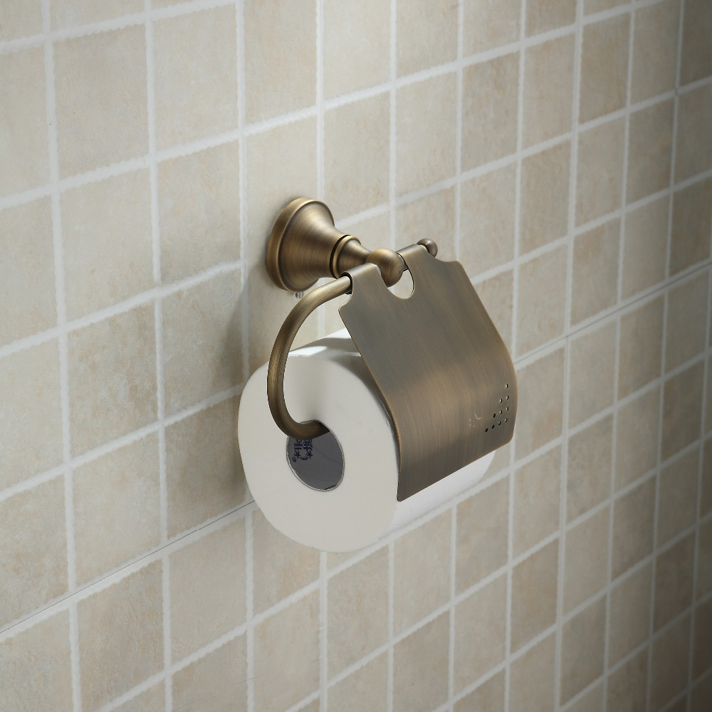 Buy bronze brass tissue holder cheap Creative toilet paper holder